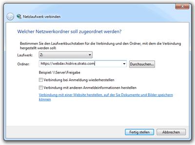 WebDAV-Ordner