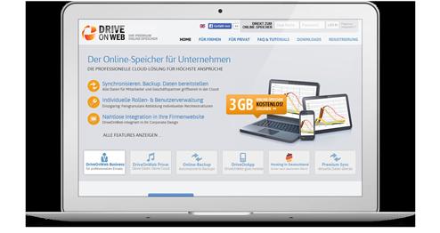 DriveOnWeb Webseite