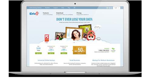iDrive Webseite