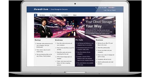 Livedrive Webseite