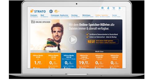 STRATO Webseite