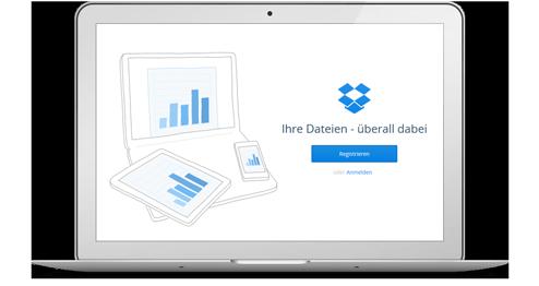 Dropbox Webseite