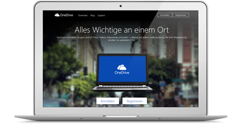 OneDrive Webseite