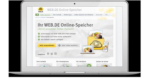Web.de Webseite