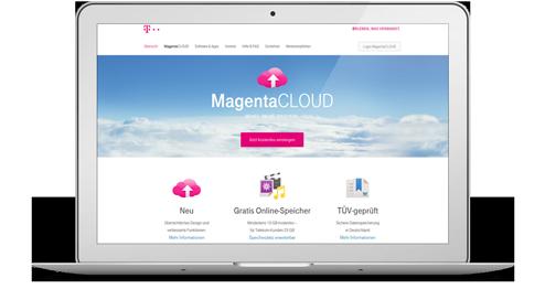 MagentaCLOUD Webseite